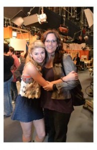Gayla and Stefanie on set of 'A.N.T.Farm'